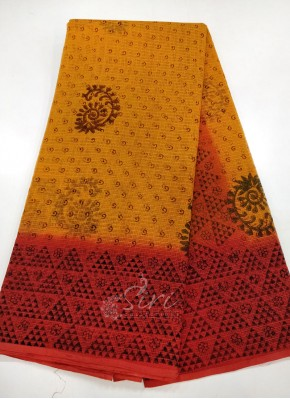 Pure Printed Cotton Kota Saree