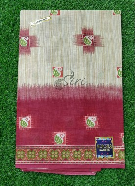 Pure Printed Cotton Saree
