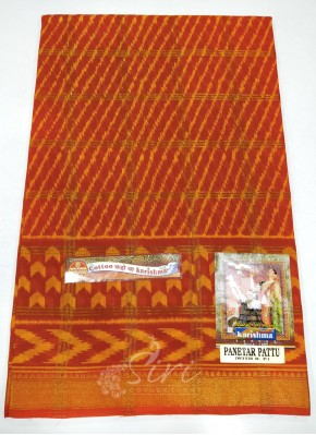 Pure Printed Cotton Saree In Self Zari Checks