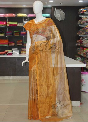 Pure Uppada Silver Gold Tissue Saree