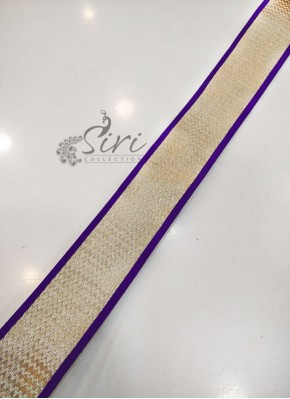 Purple Dull Antique Gold Fancy Lace Border