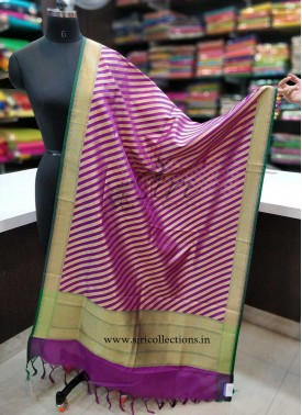 Purple Green Banarasi Dupatta