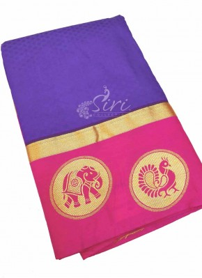 Purple Pink Fancy Kanchi Pattu Saree