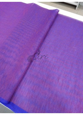 Purple Shaded Fancy Gunjan Self Weave Line Fabric Per Meter