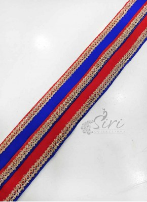 Red Blue Gold Fancy Lace Border