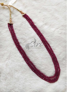 Ruby Alike Onyx Maala Necklace