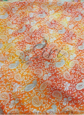 Shaded Printed Fancy Kota Silk Fabric by Meter