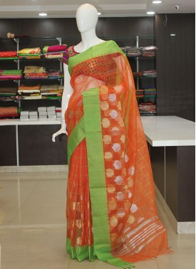 Simple Banarasi Kora Saree