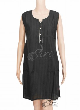 Simple Black Cotton Kurti