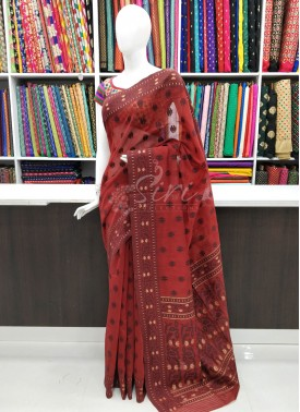 Simple Fancy Bengal Cotton Saree