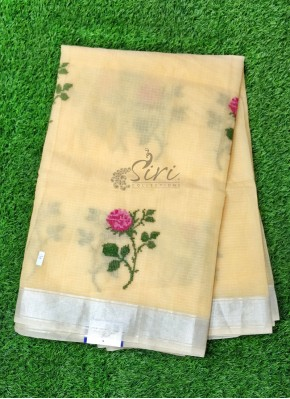 Simple Fancy Kota Saree in Embroidery Work