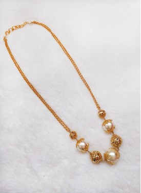 Simple Necklace Chain in Gold Micro Polish