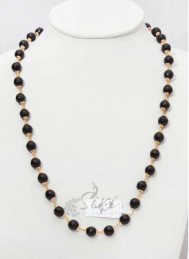 Simple Onyx Maala in Black Colour