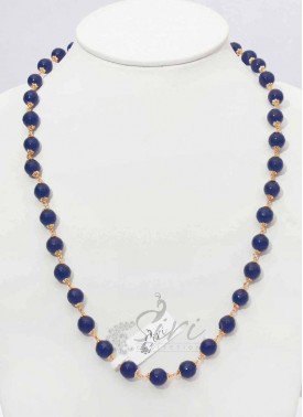 Simple Onyx Maala in Sapphire Blue Colour