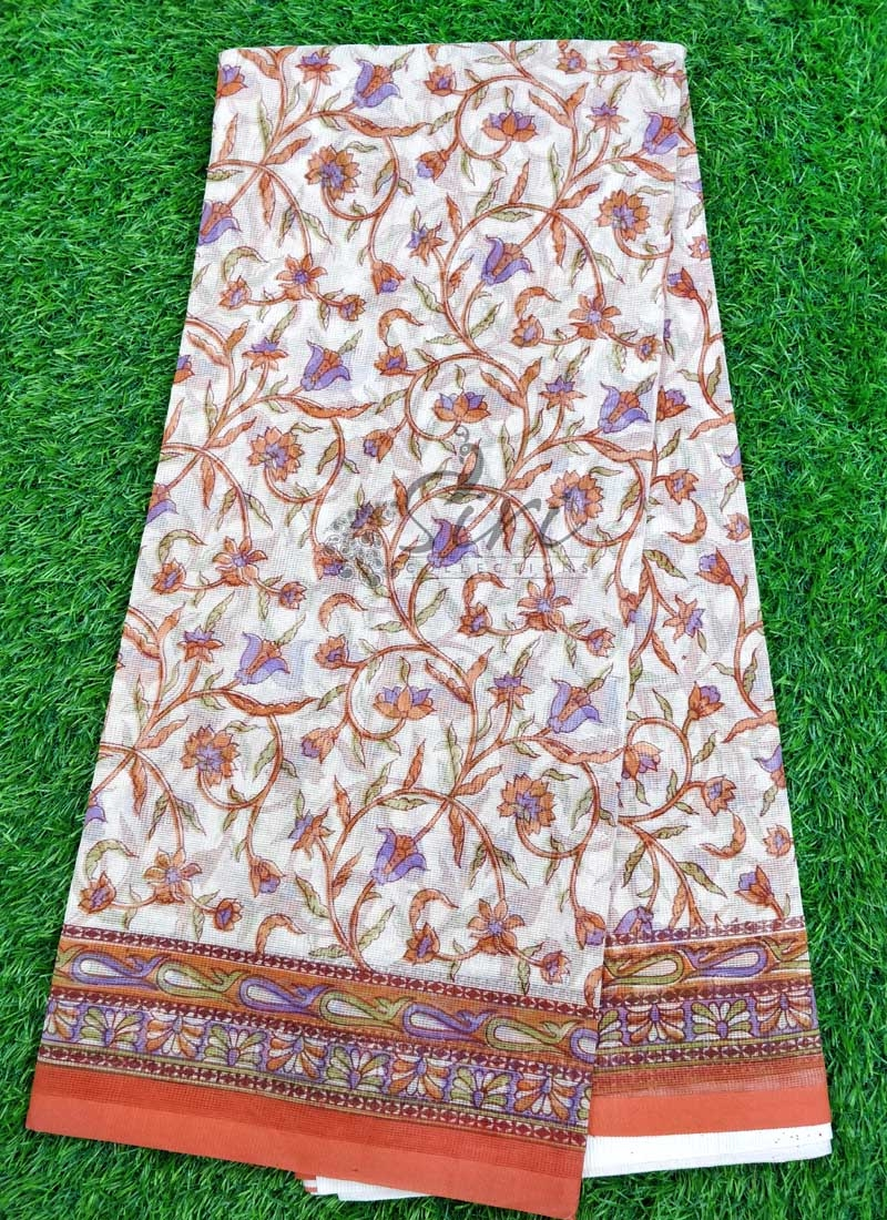 Simple Printed Fancy Supernet Saree