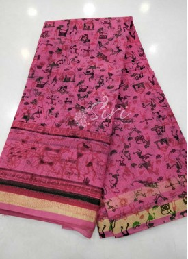 Simple Printed Kota Saree