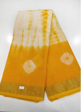 Simple Shibori Kota Doria Saree