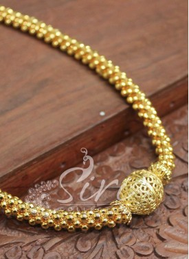 Simple Tussi Necklace with Gold Plated Ball