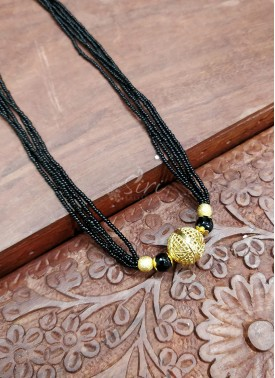 Small Black Beads Mangalsutra