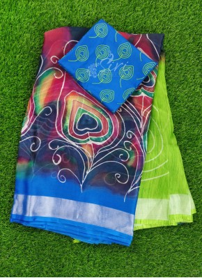 Lovely Printed Soft Jute Saree