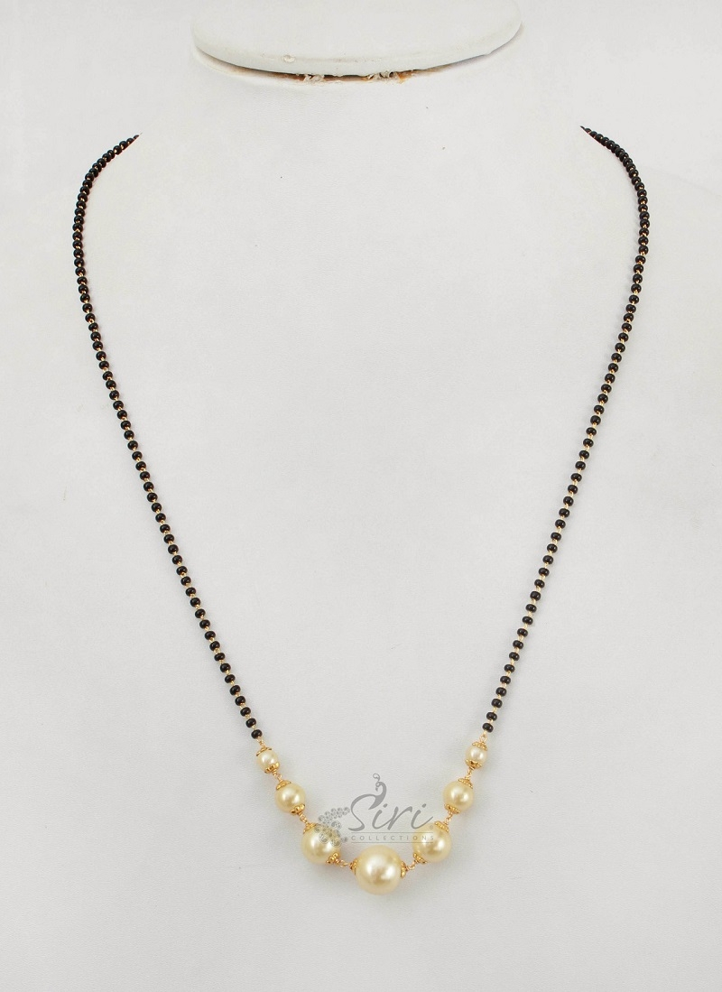 South sea pearls Black beads Mangalsutra
