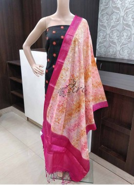 Spray Paint Fancy Banarasi Silk Fancy Dupatta