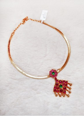 Traditional Gold Micro Polish Necklace in Kemp Stones