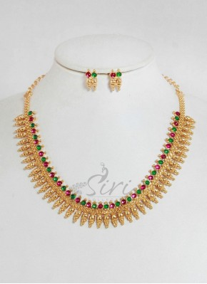 Traditional kemp Necklace with matching earrings