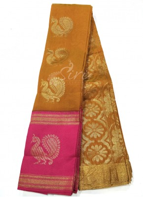Traditional Kuppadam Cotton Saree in Contrast Border