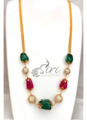 Trendy Beads and Stone Ball Chain Fashion Jewellery