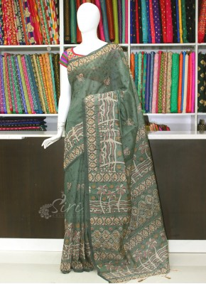 Trendy Digital Print Pure Chanderi Saree