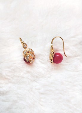 Trendy Gold Plated Earrings