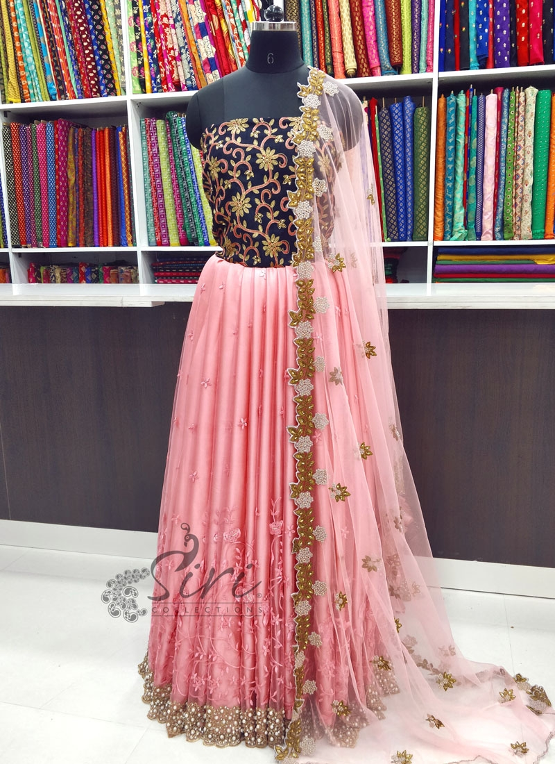 Trendy Net Lehenga and Blouse Fabric Lehenga Set with CutWork Dupatta