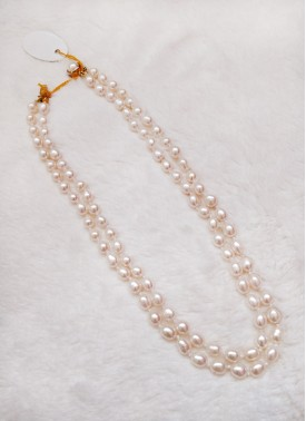 Two Line Real Pearls Chain