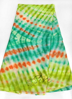 Vibrant Tie and Dye Design Chinon Crepe Saree