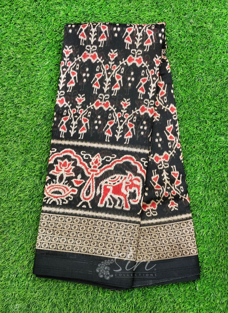 Warli Print Fancy Jute Saree